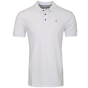 Calvin Klein Golf Gents Midtown Cotton Polo White