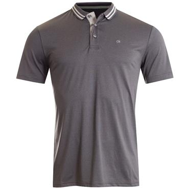 Calvin Klein Golf Gents Madison Jersey Tech Polo Shirt Charcoal