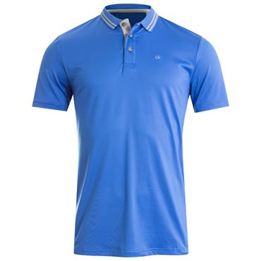 Calvin Klein Golf Gents Madison Jersey Tech Polo Shirt Royal Blue