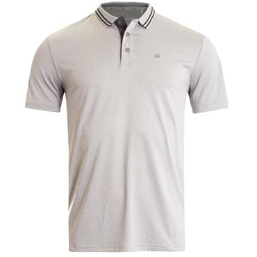 Calvin Klein Golf Gents Madison Jersey Tech Polo Shirt Silver