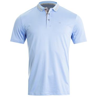 Calvin Klein Golf Gents Madison Jersey Tech Polo Sky Blue