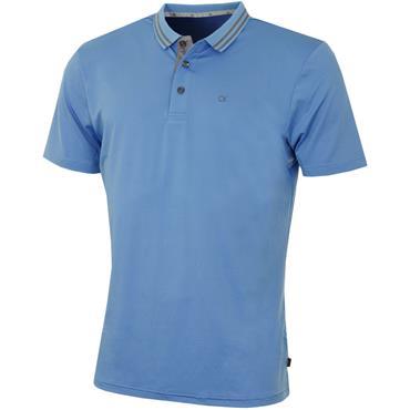 Calvin Klein Golf Gents Madison Jersey Tech Polo Sky Blue