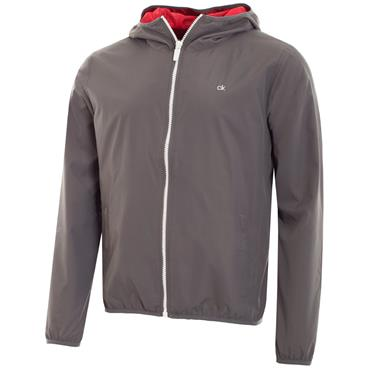 Calvin Klein Golf Gents 365 Wind Hooded Jacket Charcoal