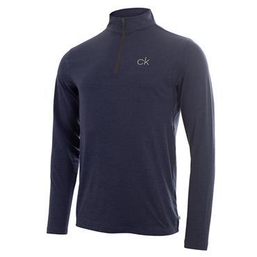 Calvin Klein Gents Newport Premium ½ Zip Top Navy Marl