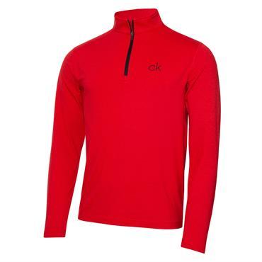 Calvin Klein Gents Newport Premium ½ Zip Top Red Marl