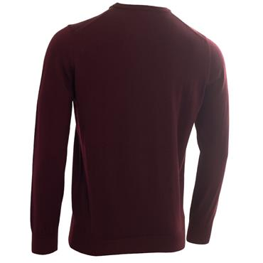 Calvin Klein Golf Gents Round Neck Merino Sweater Burgundy