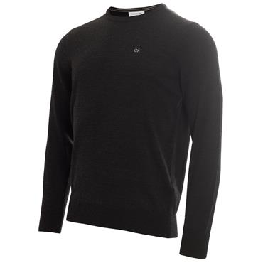 Calvin Klein Golf Gents Round Neck Merino Sweater Charcoal
