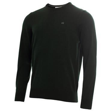 Calvin Klein Golf Gents Round Neck Merino Sweater Forest