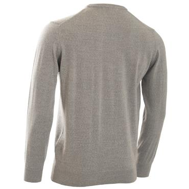 Calvin Klein Golf Gents Round Neck Merino Sweater Silver