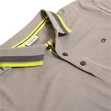 Calvin Klein Golf Gents Spark Polo Shirt Grey Marl
