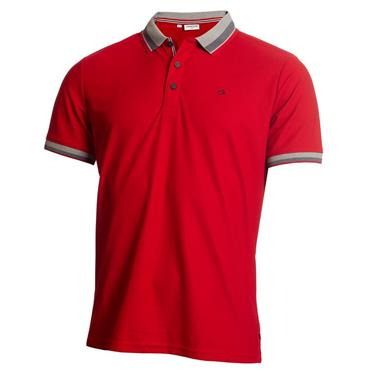 Calvin Klein Golf Gents Spark Polo Shirt Red