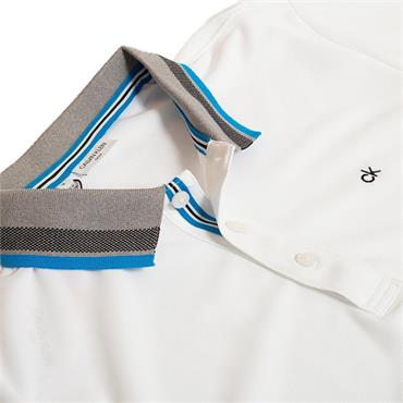 Calvin Klein Golf Gents Spark Polo Shirt White