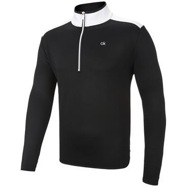 Calvin Klein Golf Gents Kings ¼ Zip Top Black - White