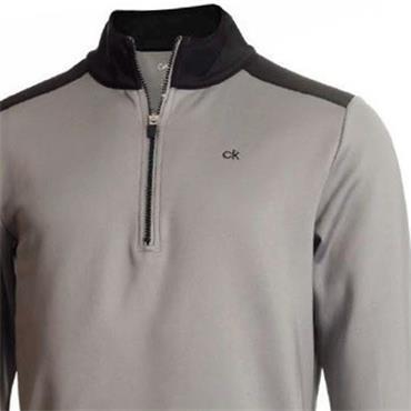 Calvin Klein Golf Gents Kings ¼ Zip Top Grey - Black