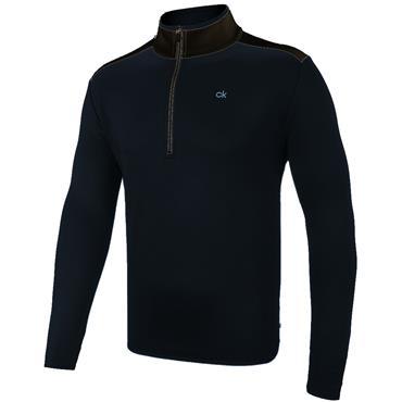 Calvin Klein Golf Gents Kings ¼ Zip Top Navy - Black