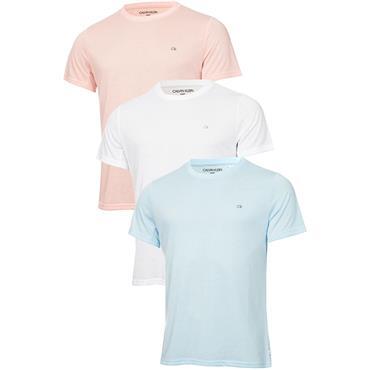 Calvin Klein Golf Gents T-Shirt 3-Pack Salmon Pink - White - Blue