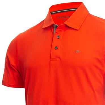 Calvin Klein Golf Gents Newport Polo Fiery Red