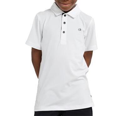 Calvin Klein Golf Kids Newport Polo White