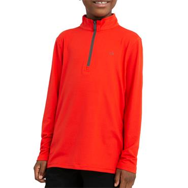 Calvin Klein Golf Kids Newport 1/2 Zip Top Fiery Red