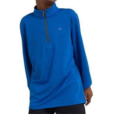 Calvin Klein Golf Kids Newport 1/2 Zip Top Nautical Blue - Marl