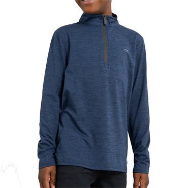 Calvin Klein Golf Kids Newport 1/2 Zip Top Navy - Marl