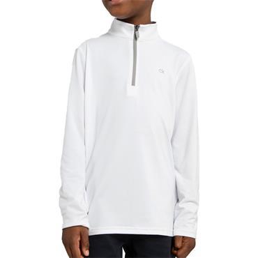 Calvin Klein Golf Kids Newport 1/2 Zip Top White