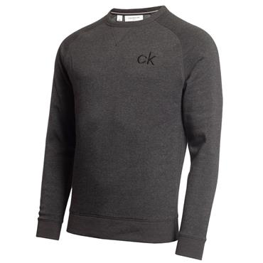 Calvin Klein Golf Gents Columbia Crew Sweater Charcoal - Marl
