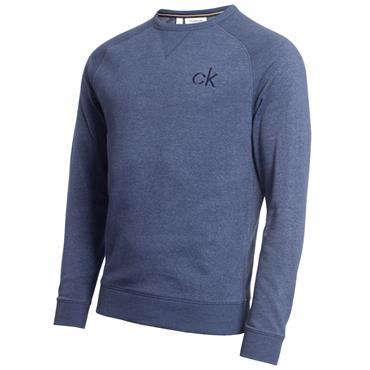 Calvin Klein Golf Gents Columbia Crew Sweater Denim - Marl