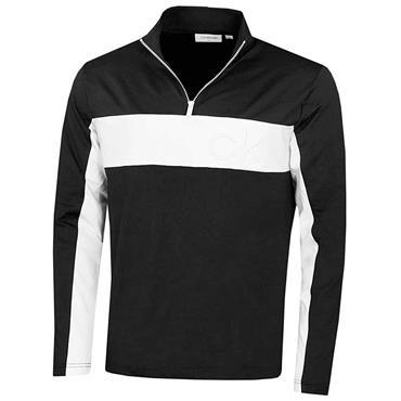 Calvin Klein Golf Gents Embossed ½ Zip Top Black - White