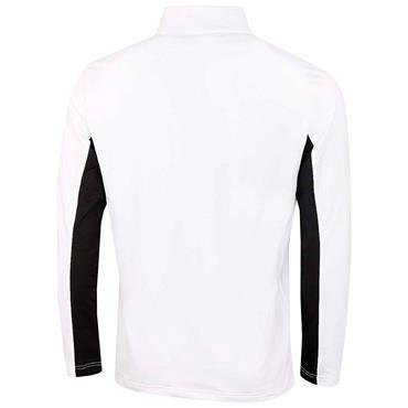 Calvin Klein Golf Gents Embossed ½ Zip Top White - Black