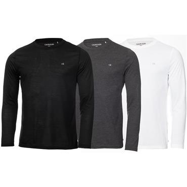 Calvin Klein Golf Gents T-Shirt Long Sleeve 3-Pack Charcoal - White - Black