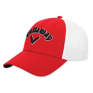 Callaway Mesh Fitted Cap Red - White - Black