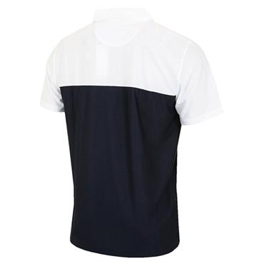 Cutter & Buck Gents Dry Tech Polo Shirt Navy - White