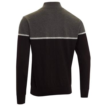 Cutter & Buck Gents Block Lined Windblock Sweater Black