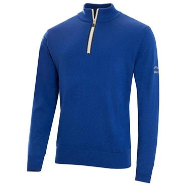 Cutter & Buck Gents Tech Lined Windblock Sweater Royal Blue