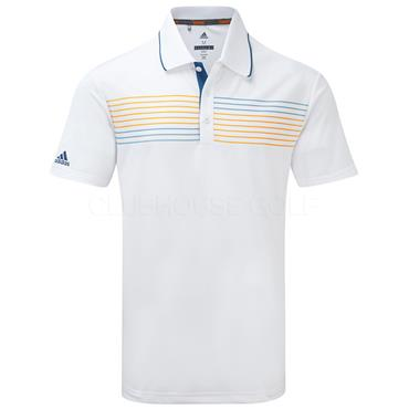 Adidas Gents Essential Textured Polo Shirt White