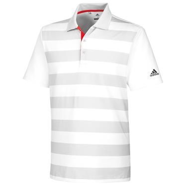 adidas Gents Ultimate 365 Rugby Polo Shirt White- Grey - Heather