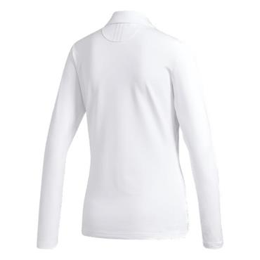 adidas Ladies Ultimate 365 Long Sleeve Polo Shirt White