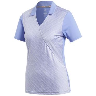 adidas Ladies Wrap Polo Shirt Chalk - Purple