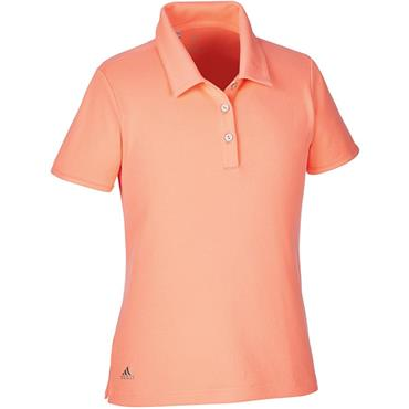 adidas Junior - Girls Tour SS Solid Polo Shirt Chalk - Coral