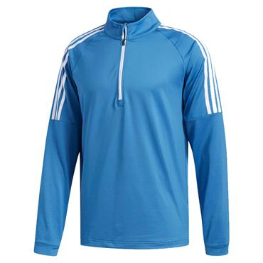 Adidas Gents 3 Stripe 1/4 Zip Top Trace Royal