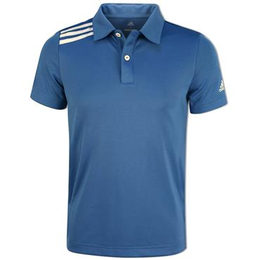 adidas Junior - Boys 3 Stripe Tournament Polo Shirt Trace Royal