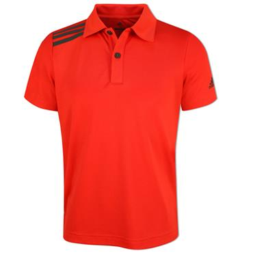 adidas Junior - Boys 3 Stripe Solid Polo Shirt Hi Res Red