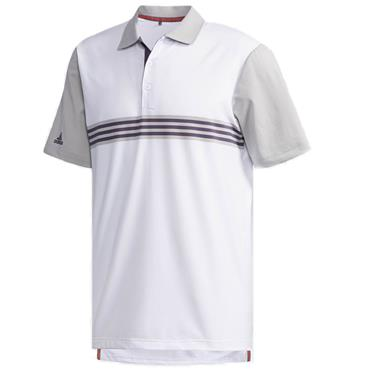 Adidas Gents Ultimate 365 3-Stripes Polo Shirt White - Grey