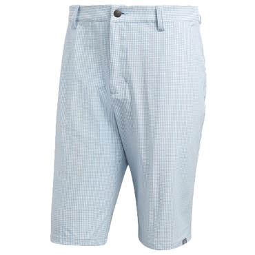 Adidas Gents Ultimate 365 Gingham Shorts Ash Blue