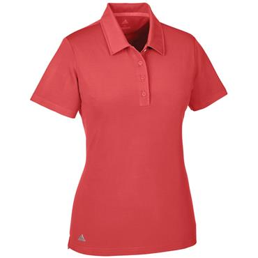adidas Ladies Ultimate Short Sleeve Polo Shirt Real Coral