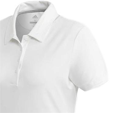 Adidas Ladies Ultimate Short Sleeve Polo Shirt White