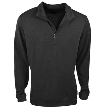 Adidas Gents 1/4 Zip Wool Top Black Heather