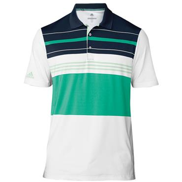 adidas Gents Ultimate 365 Engineered Block Polo Shirt Green