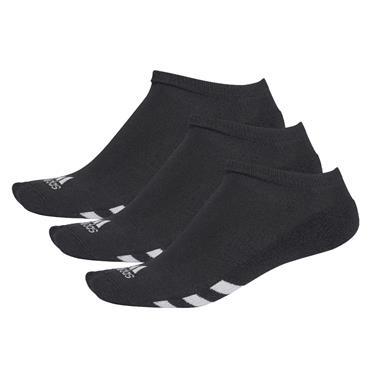 adidas Gents 3-Pack No Show Socks Black